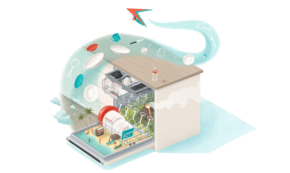 Gli elettrodomestici Bosch illustrati da Andrea De Santis