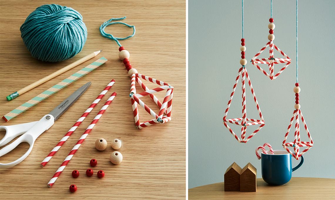 Decori natalizi last minute gli chandelier con le - Decori natalizi per finestre fai da te ...