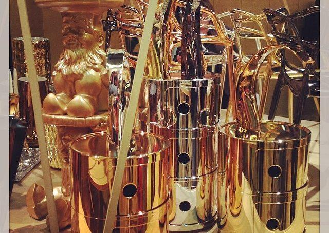 Da #kartell è tutto d'oro! #fuorisalonecf