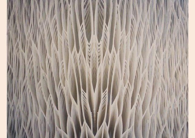 Laser 3d. Seduta di una sedia. Scuola olandese di design.