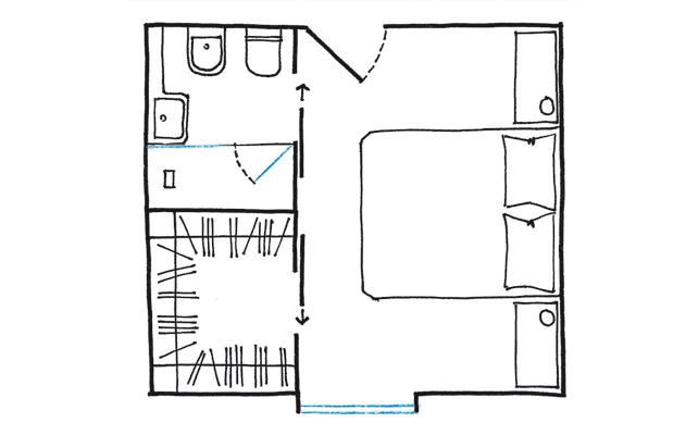 La cabina armadio 10 progetti a seconda della tua camera for Piani cabina 4 camere da letto