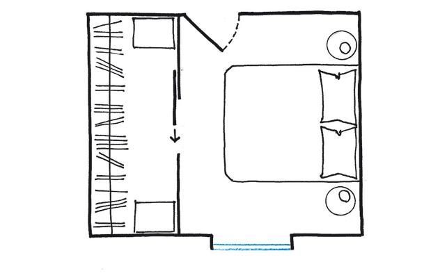 La cabina armadio 10 progetti a seconda della tua camera - Cabina armadio dimensioni ...