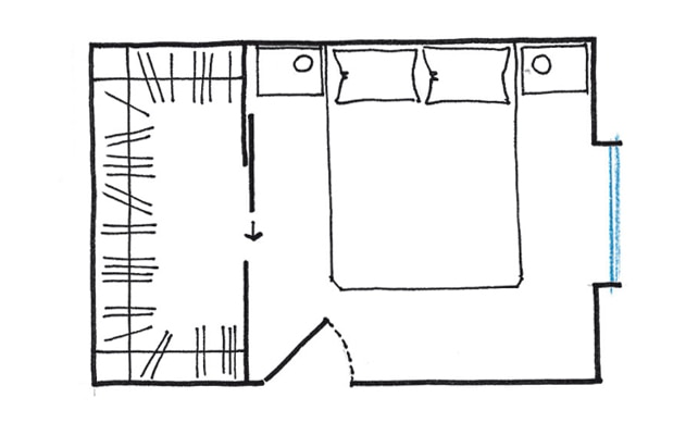 La cabina armadio 10 progetti a seconda della tua camera casafacile - Planimetria camera da letto ...