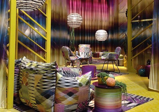 Colori e fantasie da sogno @missonihome. Come ricreare un giardino ultra chic in casa #salone2014 #fuorisalonecf