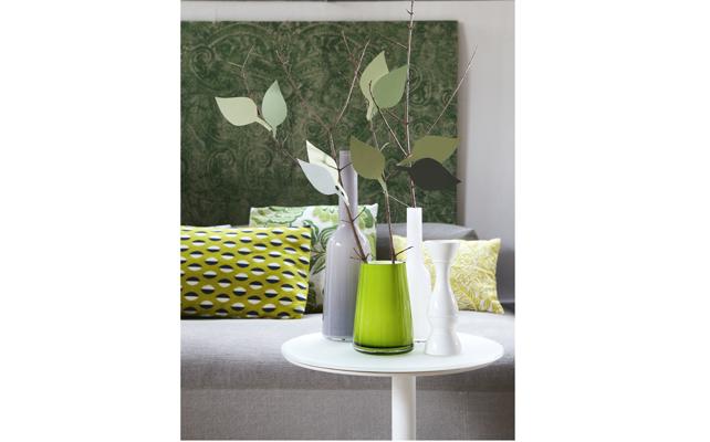 Crea le foglie di cartoncino per rami décor