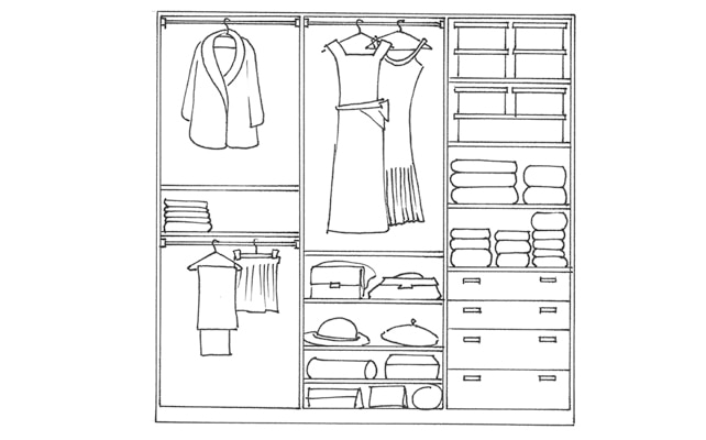 Come organizzare la cabina armadio per lei e per lui