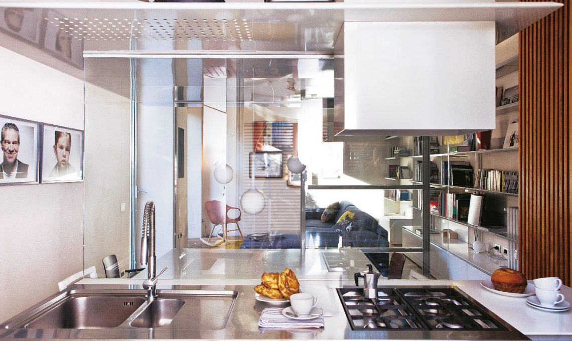 Dividere Gli Spazi Con Pareti In Vetro Casafacile - Cucina Con ...