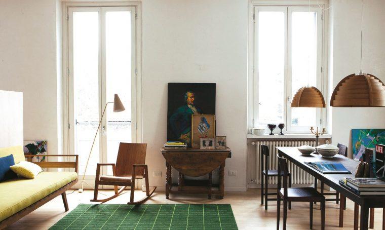 Idee per arredare un monolocale open space: le pareti divisorie in legno