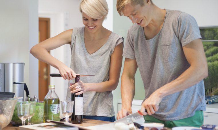 La cucina ideale da vivere in coppia