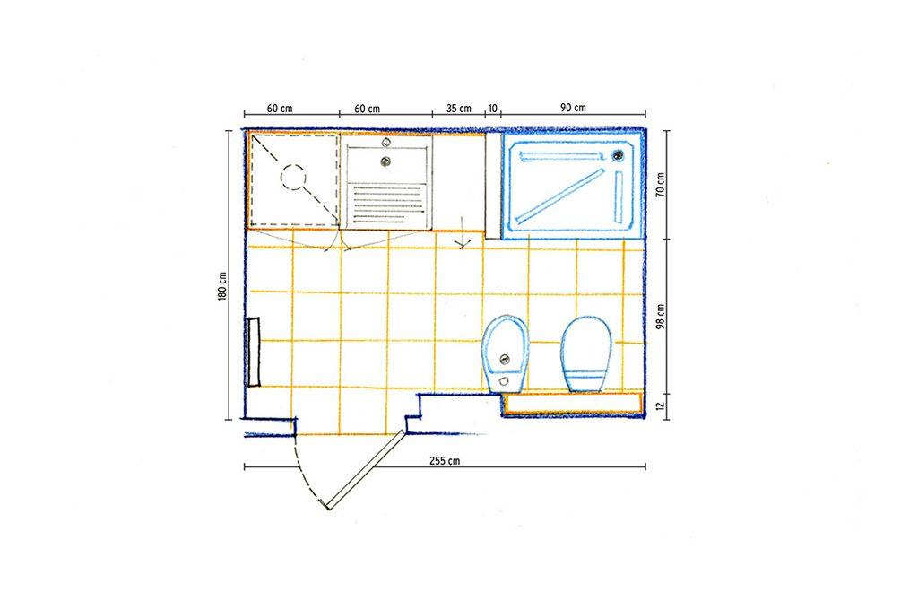 Il bagno di servizio pi pratico e confortevole casafacile for 2 br 2 piani casa bagno