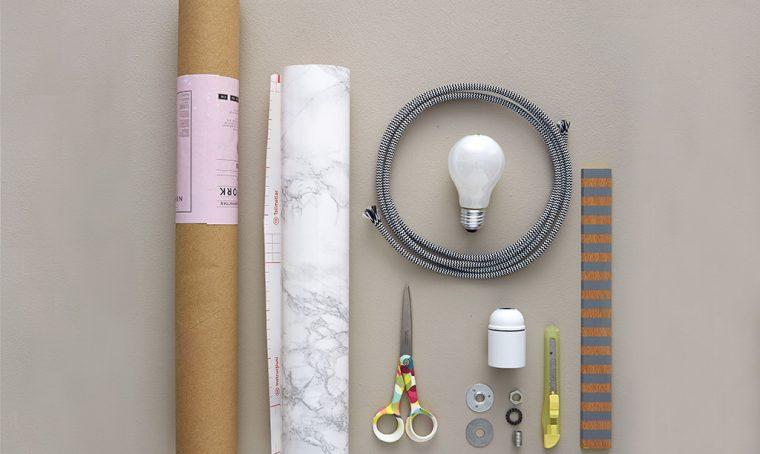 Come realizzare la lampada marmorizzata