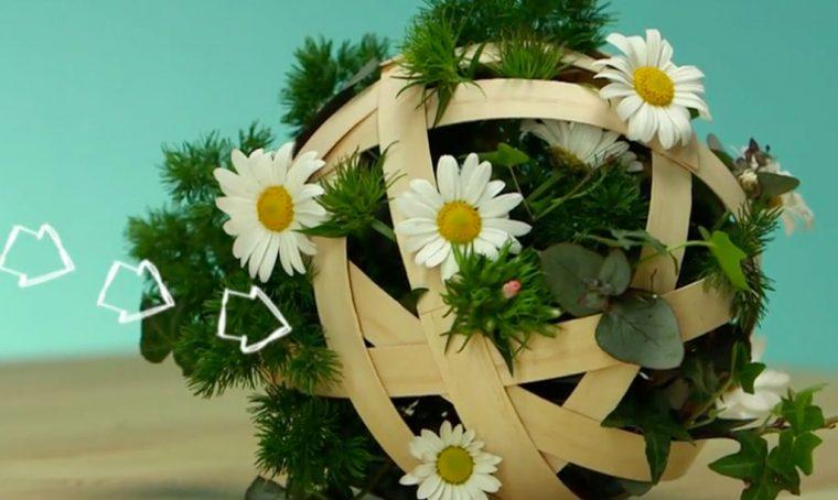 Come realizzare sfere in legno fiorite