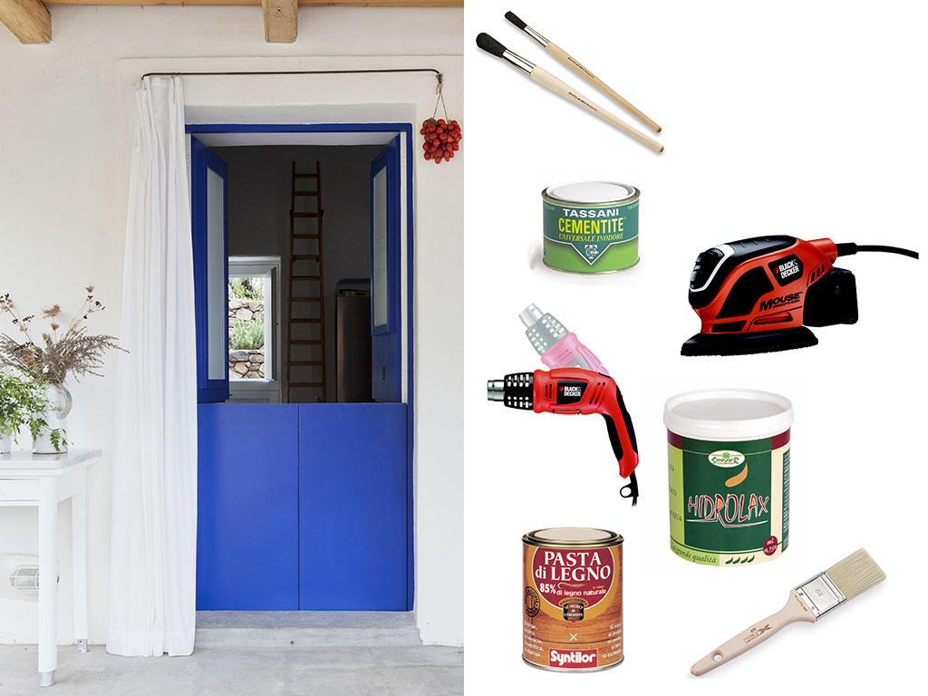 Come ridipingere la porta restyling fai da te casafacile - Porta piante fai da te ...