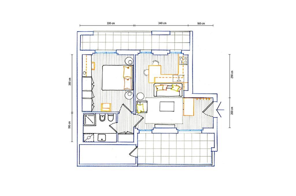 40 mq organizzati su misura casafacile for Progetto casa 40 mq