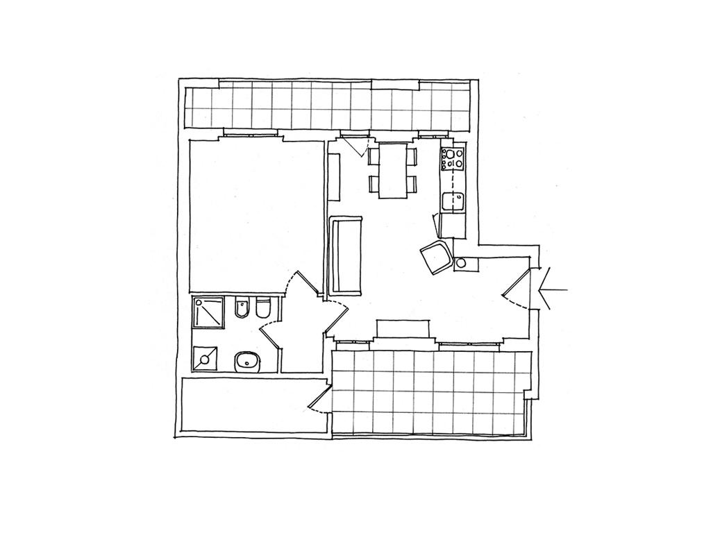 Casa 60 Mq Pianta 40 mq organizzati su misura - casafacile