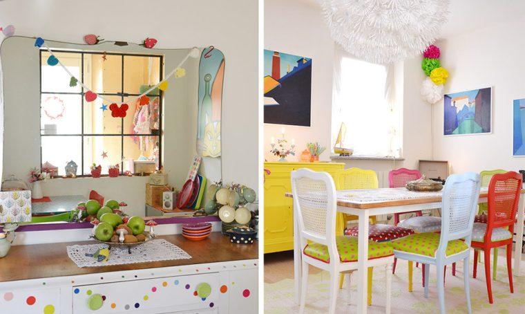 Una casa multicolore