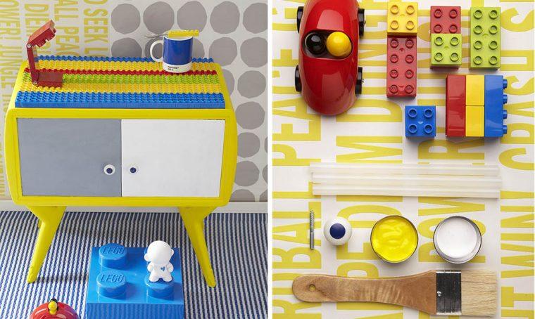 Fai da te per la cameretta: il comodino (ri)fatto… con i Lego!