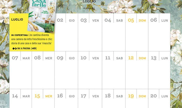 CasaFacile di luglio ti regala il planning del mese!