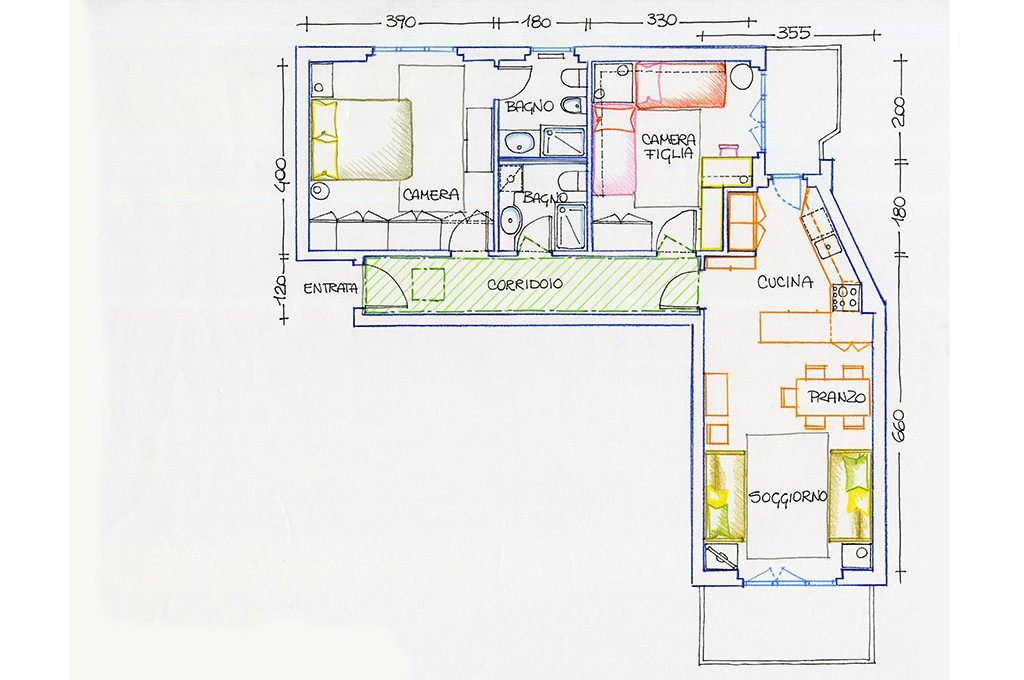 Cucina open e bagno in più: progetto per una casa al mare - CASAfacile
