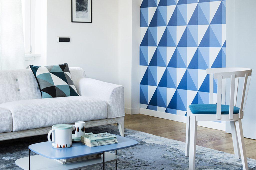 Disegni e oggetti geometrici decorativi sono trendy e - Decorazioni su muri interni ...