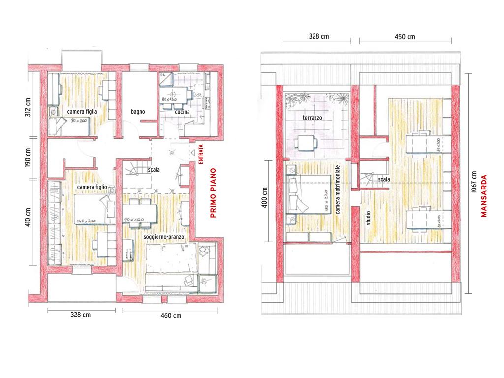 Progetto villetta 2 piani op67 regardsdefemmes for 3 camere da letto 3 piani del bagno