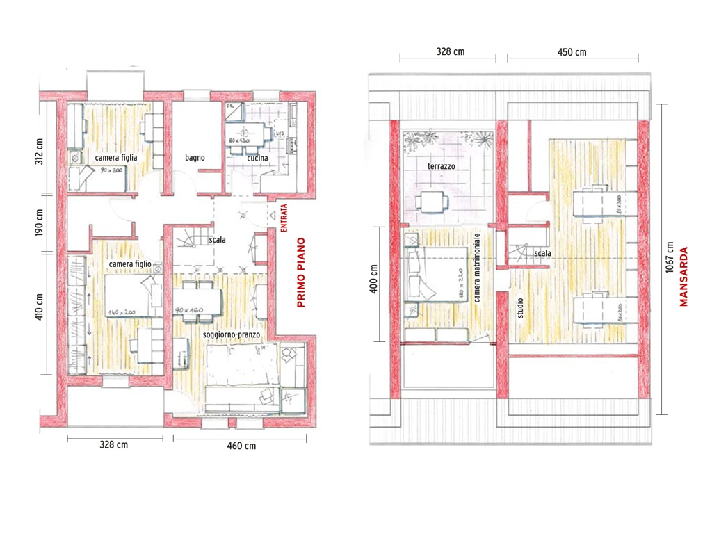 Progetto villetta 2 piani op67 regardsdefemmes for Piani di studio a casa