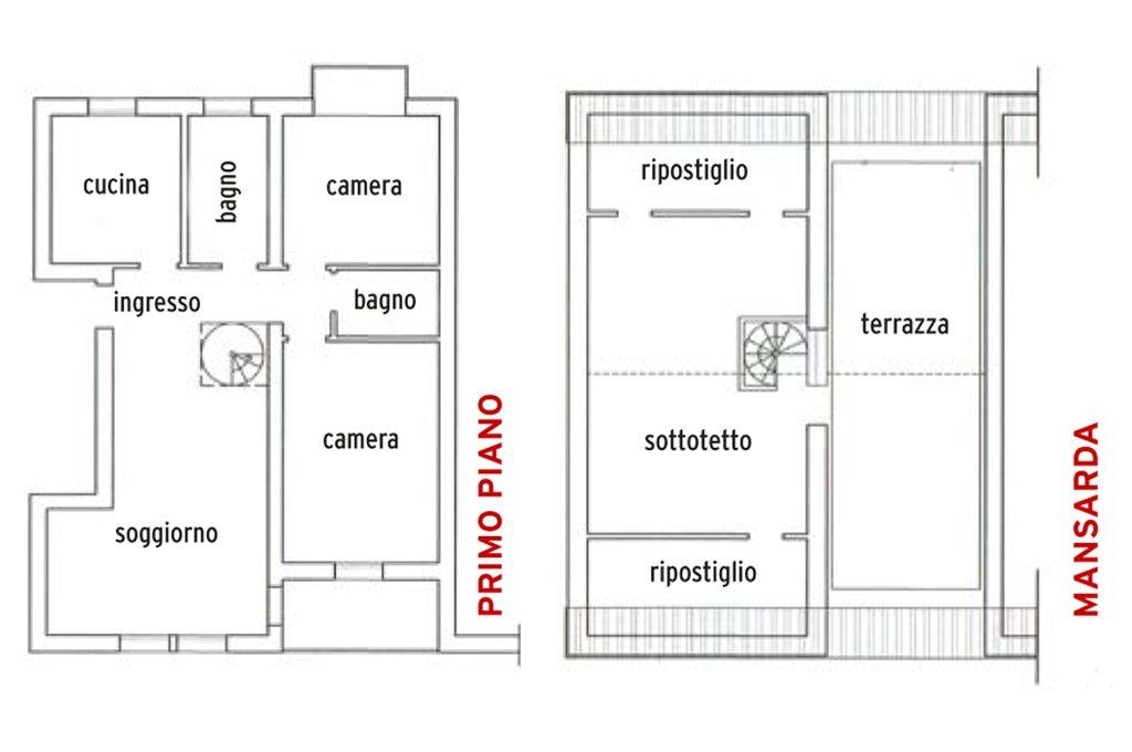 Progetto casa 100 mq 2 bagni cheap progetto di duinterni Esempi di progetti di case