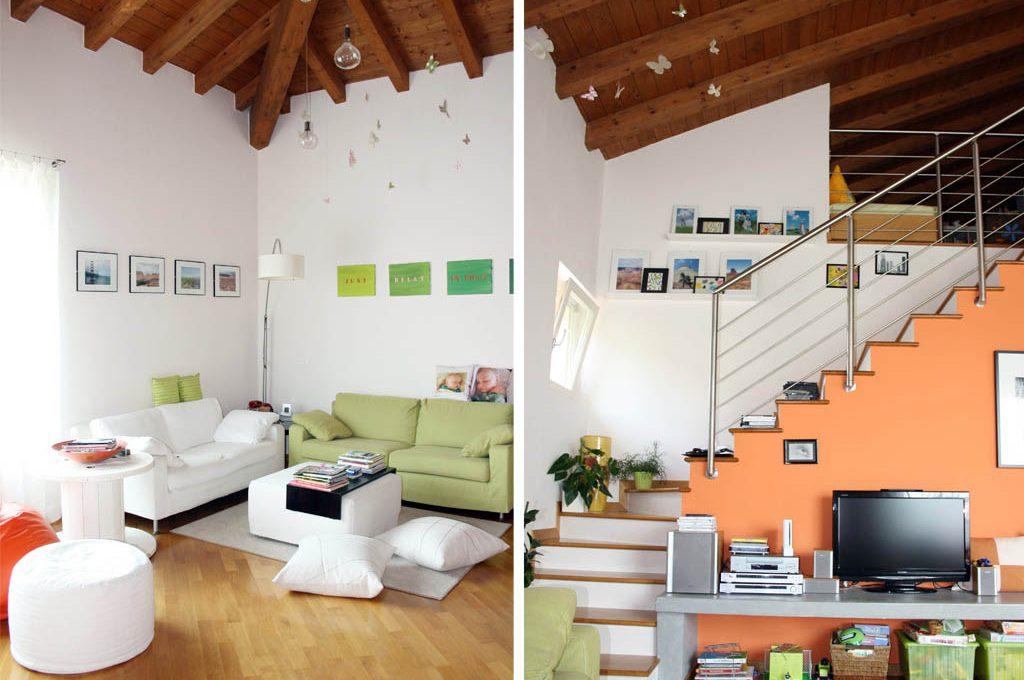 Pareti colorate e idee fai da te casafacile for Pareti colorate casa moderna