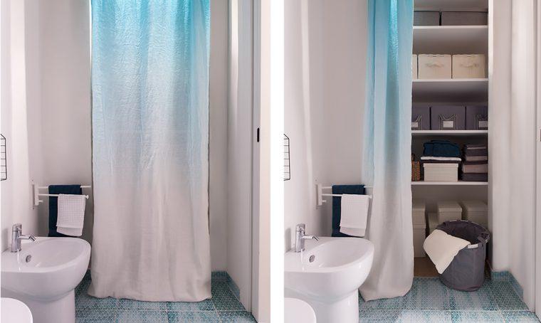 12 soluzioni con una tenda: cabina armadio, lavanderia, ripostiglio…