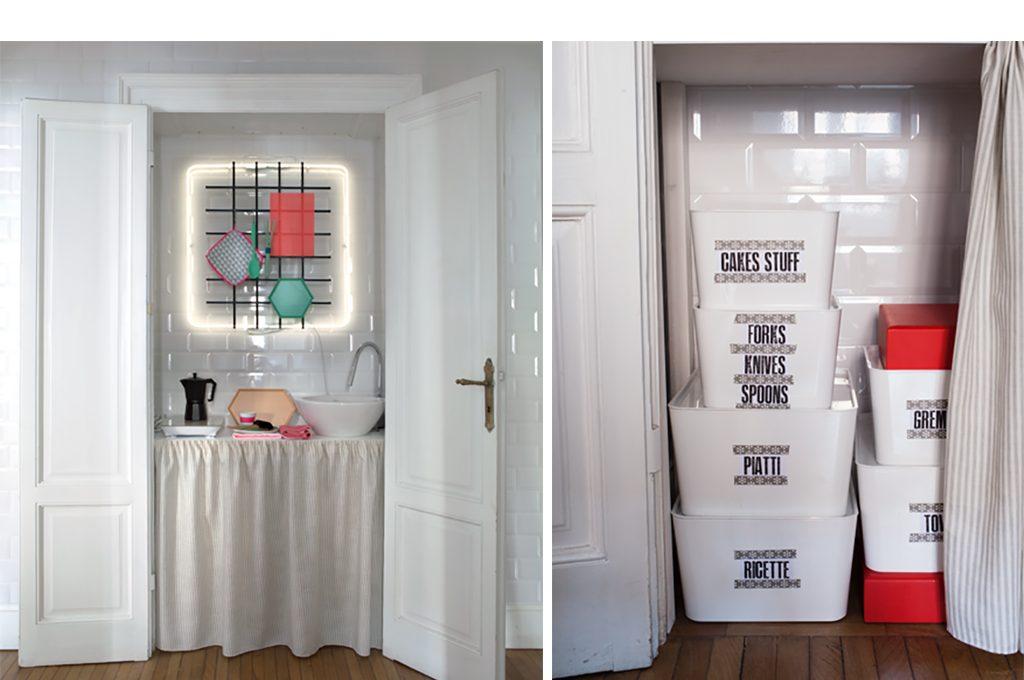 12 soluzioni con una tenda cabina armadio lavanderia for Armadio bagno ikea