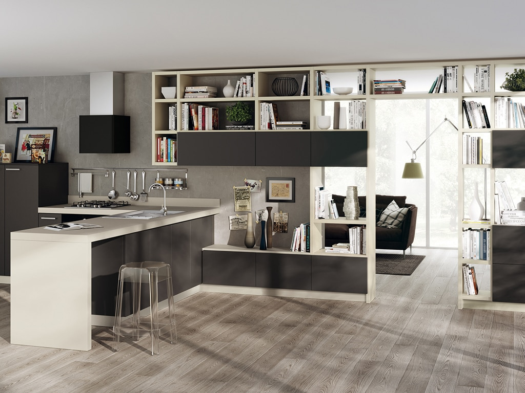 7 buone ragioni per scegliere la cucina nera casafacile for Pavimenti per cucina e soggiorno