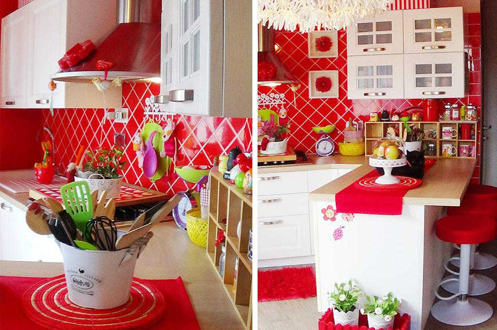 Cucina bianca e rossa bagno verde e il coraggio di arredare con i colori casafacile - Cucina bianca e rossa ...