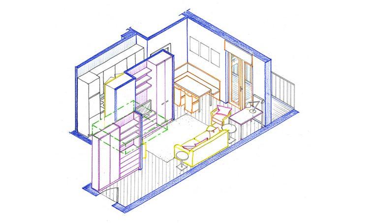 Progetto: da angolo cottura a cucina (quasi) abitabile