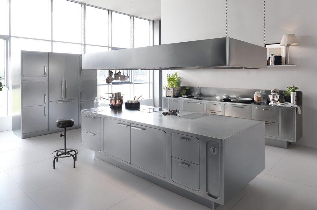Acciaio in cucina per mobili e accessori ecco perch il materiale top casafacile - Blocco cucina acciaio ...