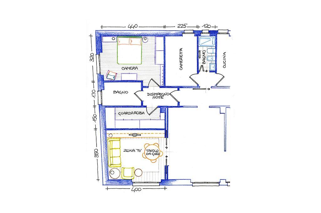 Come ricavare la cabina armadio in una camera squadrata for Arredare una cabina armadio