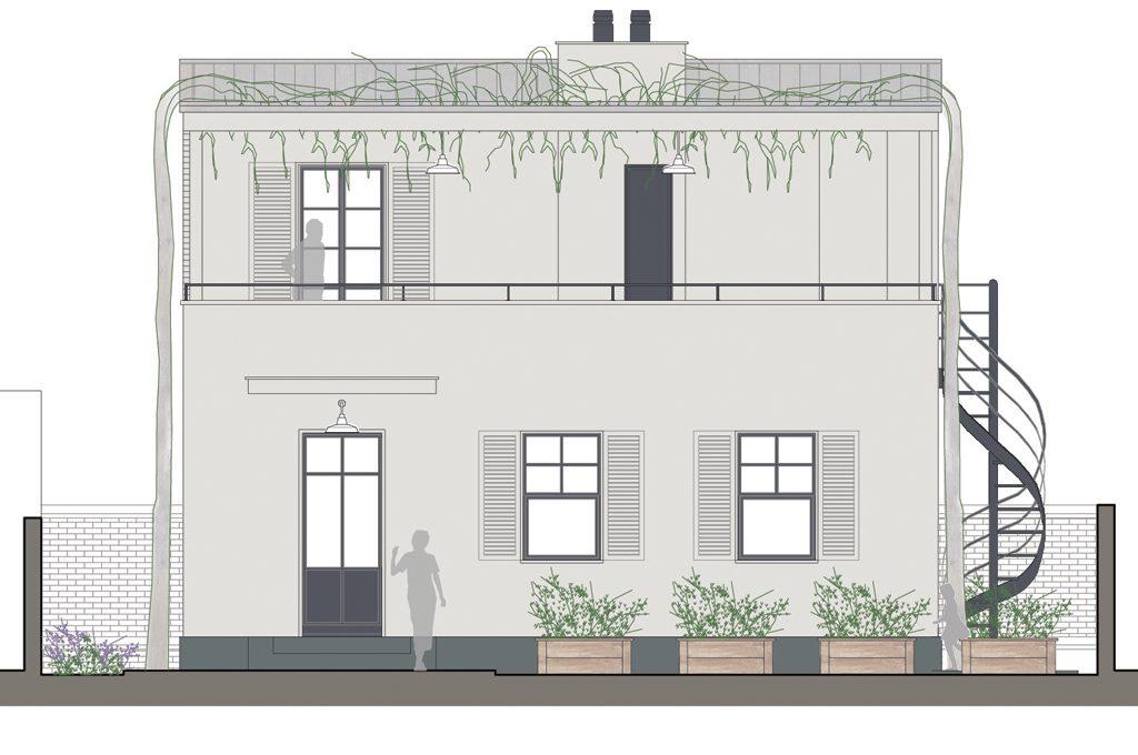Ristrutturare un piano in pi con terrazzo e zona ospiti - Costo ascensore esterno 1 piano ...
