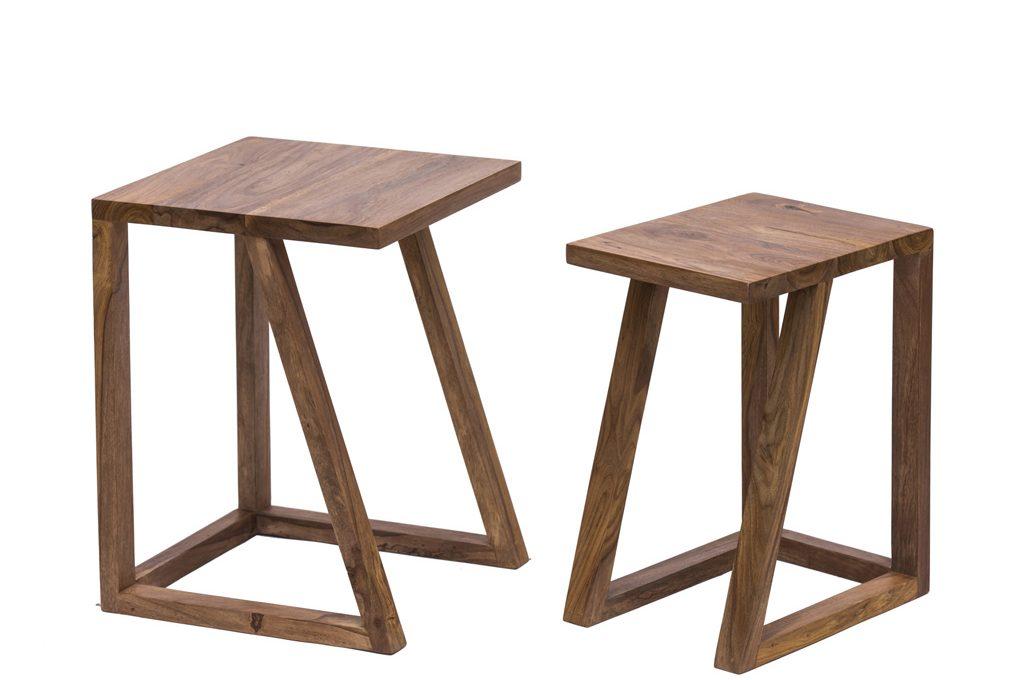 Sgabelli e tavolini in legno naturale novità casafacile