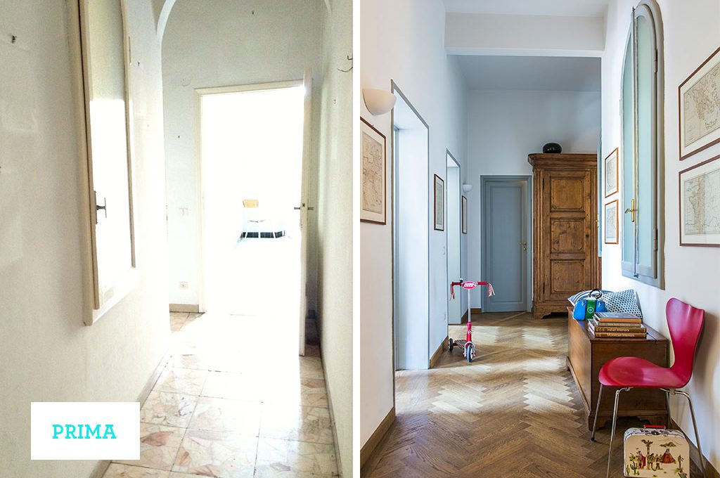 Prima dopo ristrutturare un appartamento d 39 epoca casafacile for Case ristrutturate moderne