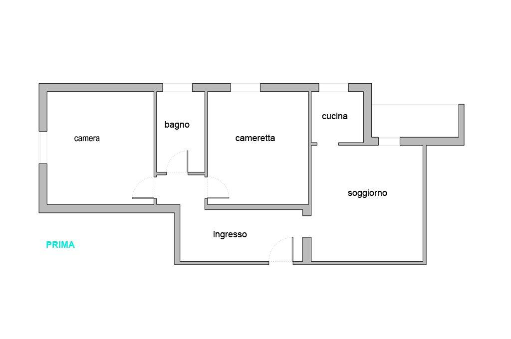 Creare secondo bagno lavanderia e cabina armadio in pi casafacile - Creare un bagno in poco spazio ...