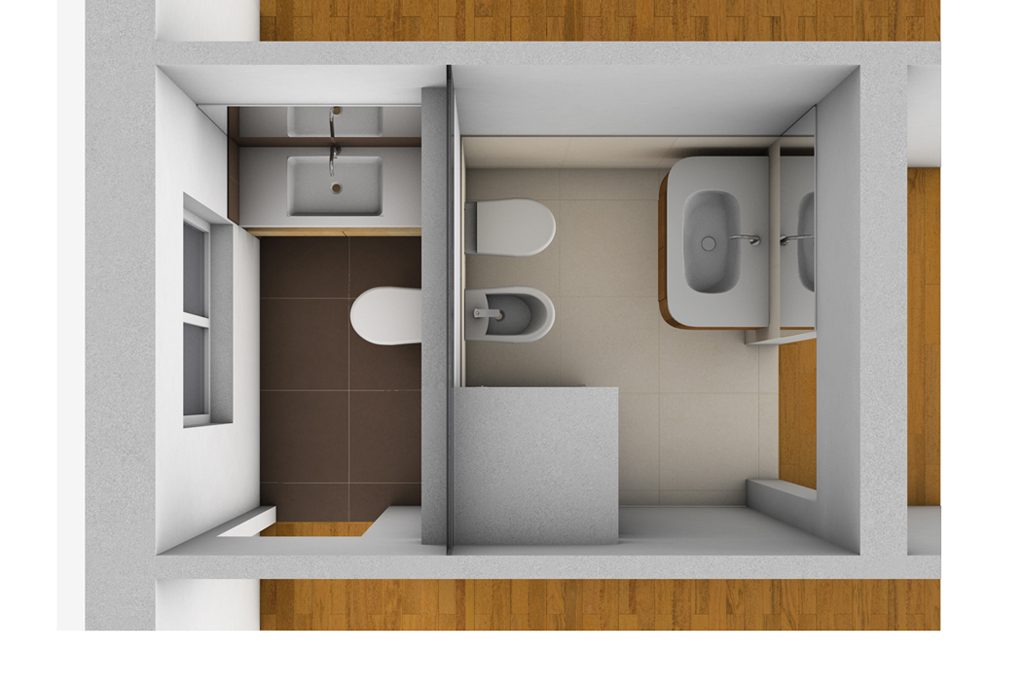 Creare secondo bagno lavanderia e cabina armadio in pi for 2 piani di camera da letto e 2 bagni