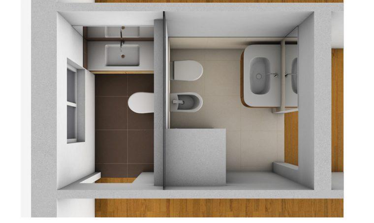 Creare secondo bagno, lavanderia e cabina armadio in più