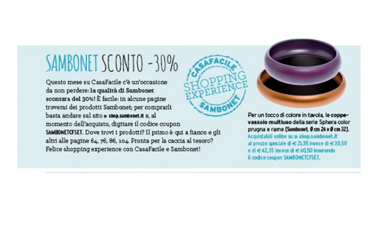 Occasione shopping: Sambonet sconto 30%