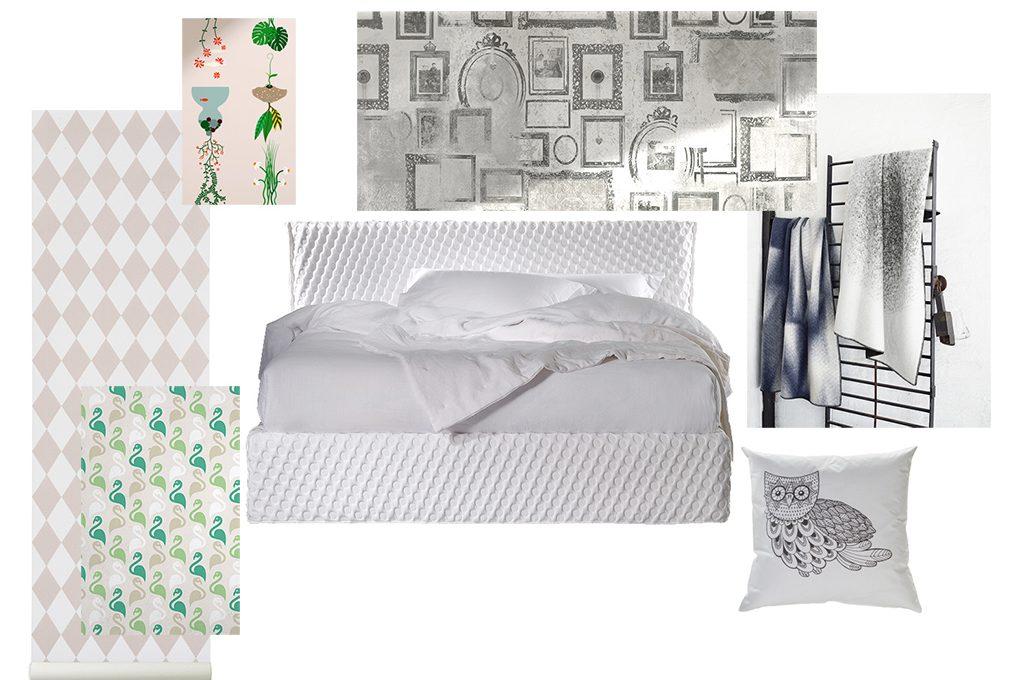Come abbinare colori decori e texture in camera da letto - Decori camera da letto ...