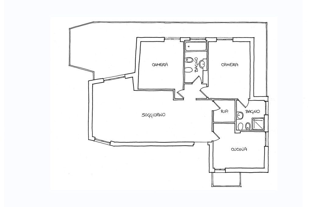Da 3 a 4 locali in un appartamento di 90mq casafacile for Bagno 7 mq