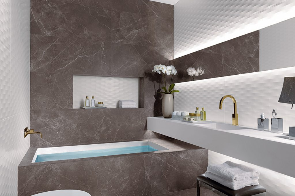 Rivestimenti Bagno In Ardesia : Rivestimenti a effetto per il tuo bagno casafacile