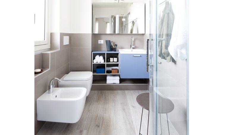 Prima&Dopo: come sfruttare lo spazio in bagno (con angolo lavanderia)