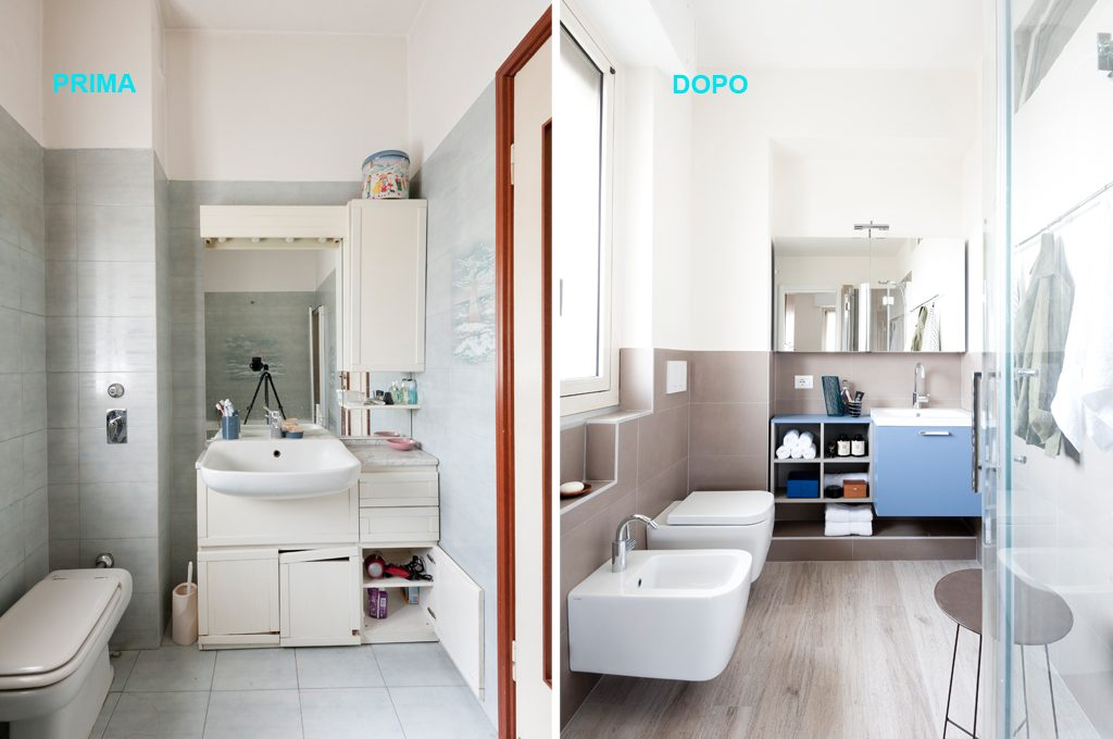 Trasformare Lavanderia In Bagno : Prima dopo come sfruttare lo spazio in bagno con angolo
