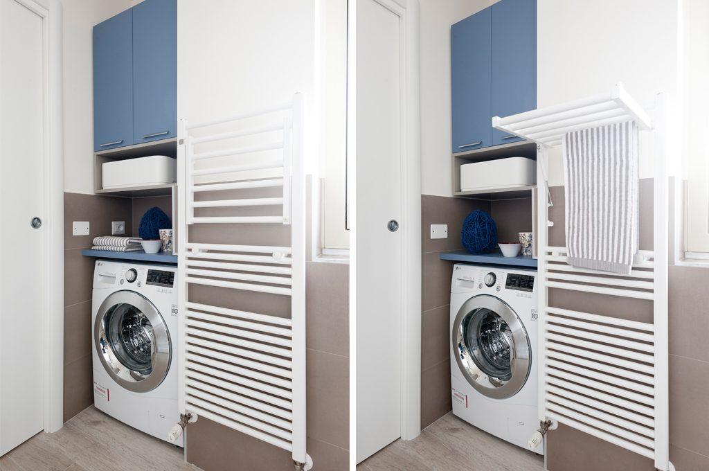 Prima&Dopo: come sfruttare lo spazio in bagno (con angolo lavanderia ...