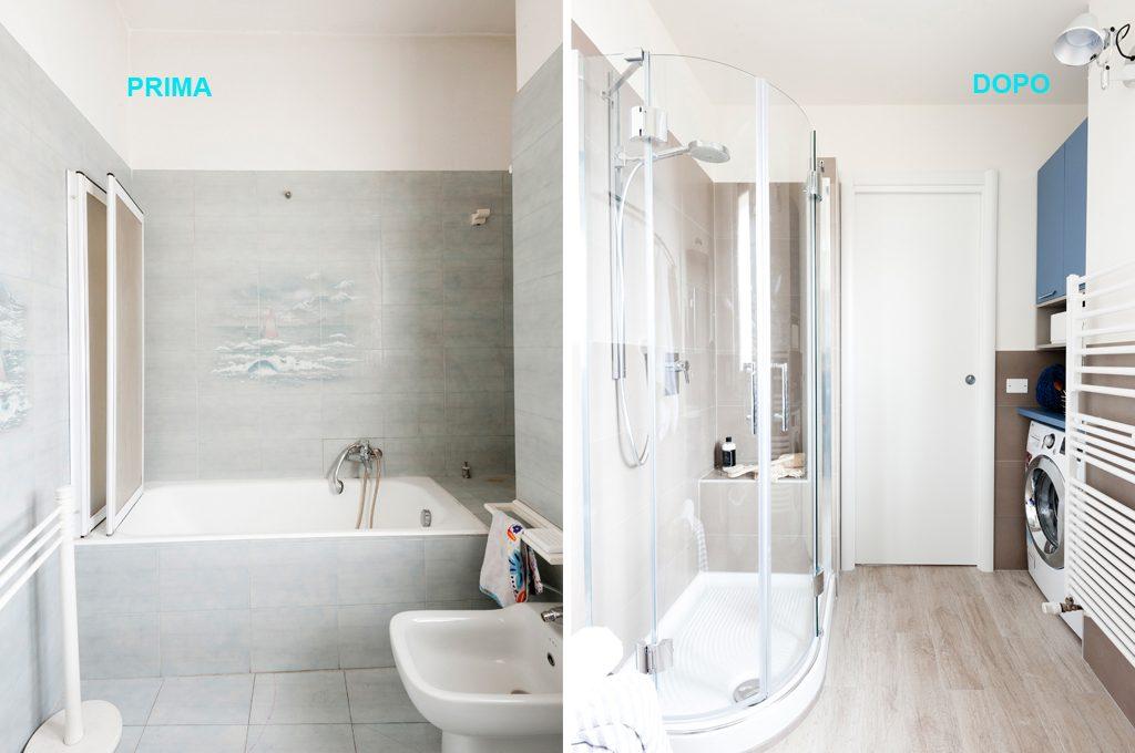 Bagno Con Zona Lavanderia : Prima dopo come sfruttare lo spazio in bagno con angolo