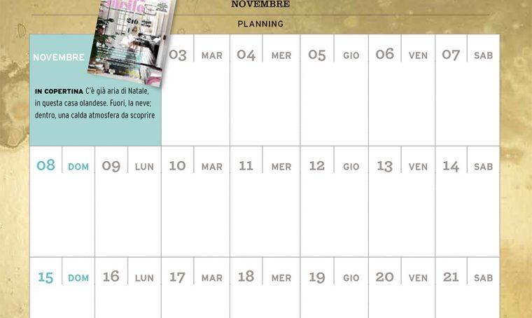 CasaFacile di novembre ti regala il planning del mese